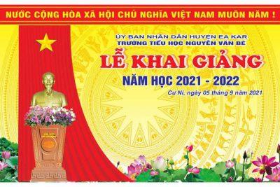 KHAI GIẢNG NĂM HỌC 2021-2022