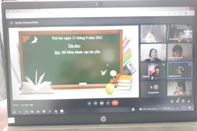 Công tác chuẩn bị dạy học Online.